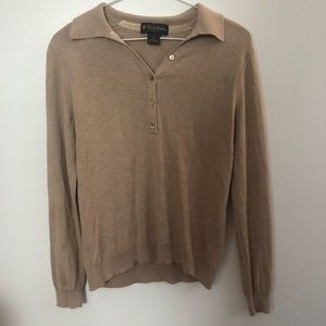 ☕️ BROOKS BROTHERS TAN SWEATER